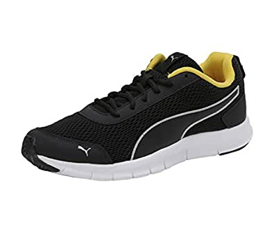 Puma Men's Rapid Runner Idp Black-Silver-Sulphur Running Shoes-6 UK (39 EU) (7 US) (37116605)