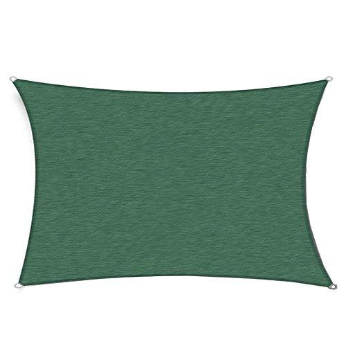 Gardenexpert - Copertura a Vela da Usare Come Tenda da Sole, Ideale per Esterni, Giardino, Cortile, Feste, Forma: Rettangolare, Colore: Verde, Dimensioni: 2,4 x 3 m