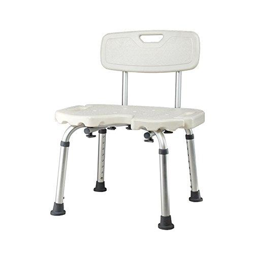 XIHAA Anti-Rutsch-Rückenlehne Duschhocker, Verstellbare Badewanne Sitz Für Badezimmer Sicherheit Und Rasur - Heavy Duty Und Leicht Für Ältere, Schwangere Frau Kind Weiß