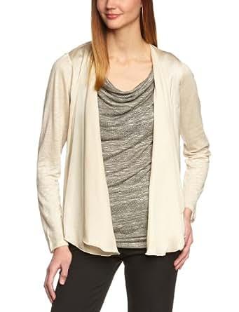 ESPRIT Collection Damen T-Shirt, F23712, Gr. 36 (S), Beige (Barley Beige 292)