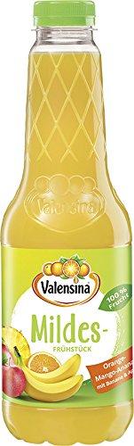 Valensina Mildes Frühstück Orange-Mango-Ananas 100% Saft, (1 x 1 l) (Ananas-orangen-saft)