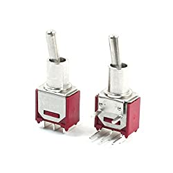 Sourcingmap® 2pcs Switching Light Toggle Switch 3 Terminals Sp2t Ac 250v 1.5a 120v 3a