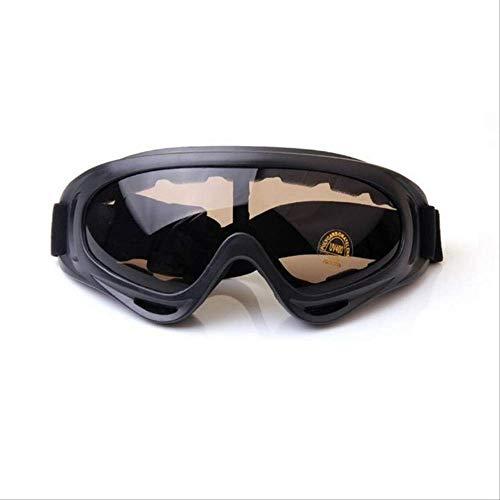 KLJH Skibrille Winter Snowboard Skibrille Für Männer Frauen Uv400 Winddichte Sonnenbrille Sport Cs Airsoft Brille Skifahren Schneemobil Anti-Fog ObjektivTee Farbe Objektiv