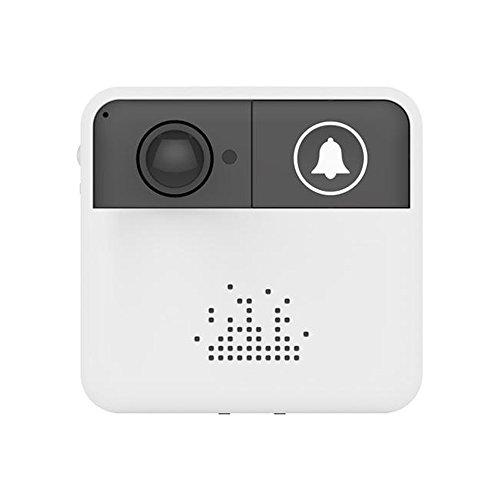 OWSOO Timbre Inteligente WiFi Inalámbrico Bajo Consumo de Energía Vídeo Inteligente Soporte Vision Nocturna Control Remoto de Teléfono Móvil