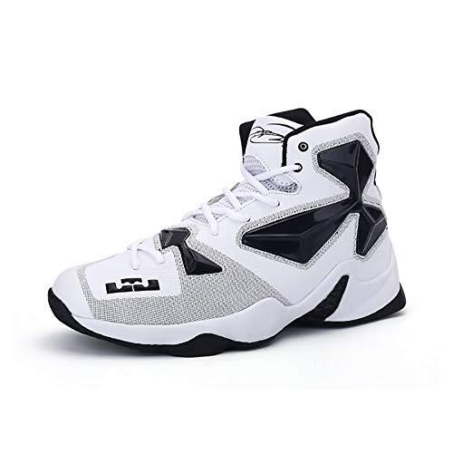Herren Komfort Schuhe PU (Polyurethan) Herbst/Winter Sneakers Basketball Schuhe rutschfeste Trainer,White,39