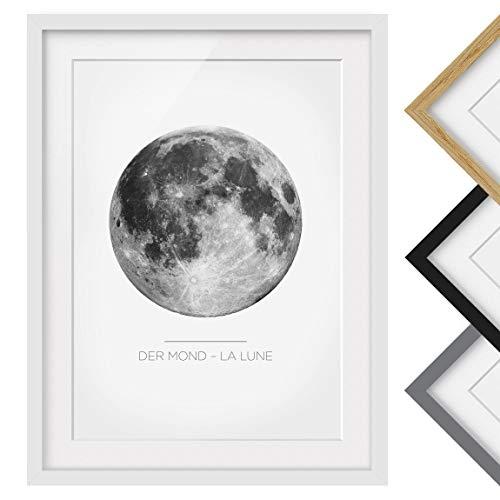 Luna - Der Mond - Rahmenfarbe Weiß, 40 x 30 cm ()