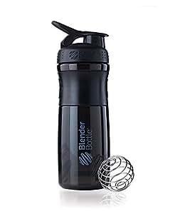Blender Bottle Sportmixer 20oz Black Black  - Shaker Cup / Water Bottle