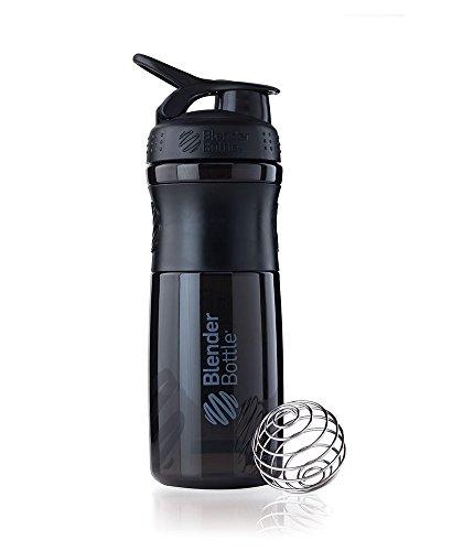 BlenderBottle Sportmixer Tritan Shaker | PRotein Shaker | Wasserflasche | Diät shaker (28oz / 820ml) - Schwarz|Schwarz