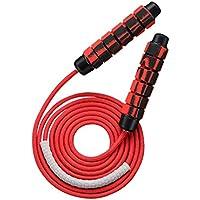 LIOOBO Saltar la Cuerda Saltar la Cuerda con Asas de Espuma para Hombres Mujeres y niños Entrenamiento de Ejercicio aeróbico Fitness Gym Training (Rojo) 7 mm