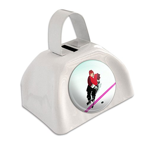ice-hockey-player-red-jersey-white-cowbell-cow-bell