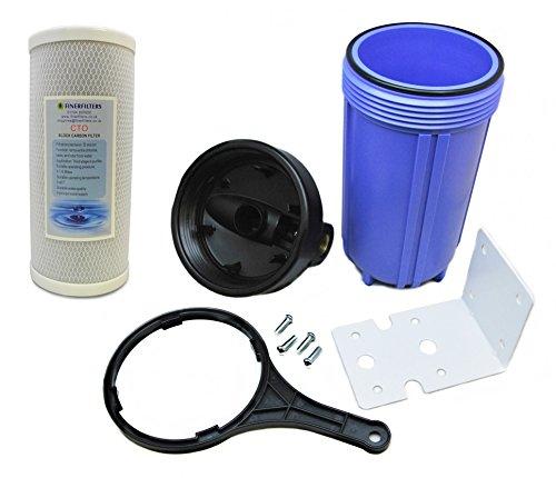 Finerfilters - Sistema purificador de filtro de agua para toda la casa, filtrado de agua para toda la casa con 5 micrones de filtro de bloque de carbono