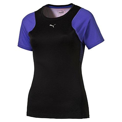 PUMA Damen T-shirt Graphic S/S Tee W, Black/Olympic placed, L, 514320 03 Preisvergleich