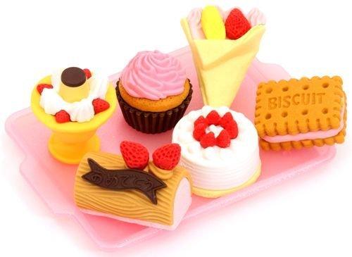 Iwako Radiergummi Kuchen Eiscreme 6 Stück Set