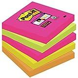 Post-It Notes Super Sticky Collection Capetown - 76 x 76 mm 90 Feuilles Lot de 5 Blocs