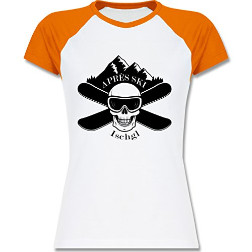Shirtracer Après Ski - Apres Ski Ischgl Totenkopf - Zweifarbiges  Baseballshirt/Raglan T-Shirt