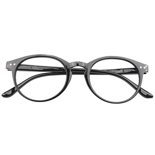 VEVESMUNDO® Lesebrillen Damen Herren Federscharnier Lesehilfe Augenoptik Vintage Retro Qualität Vollrandbrille 1.0 1.25 1.5 1.75 2.0 2.25 2.5 3.0 3.5 (1 Stück Schwarz, 1.25)