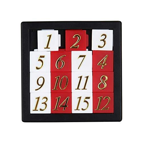Delisouls Números Puzzle Puzzles, Early Juguete Educativo, Rompecabezas Digital Número 1-15 Juego de Puzzle Juguetes Desarrollo de Abecedario Puzzle Tablero para Niños