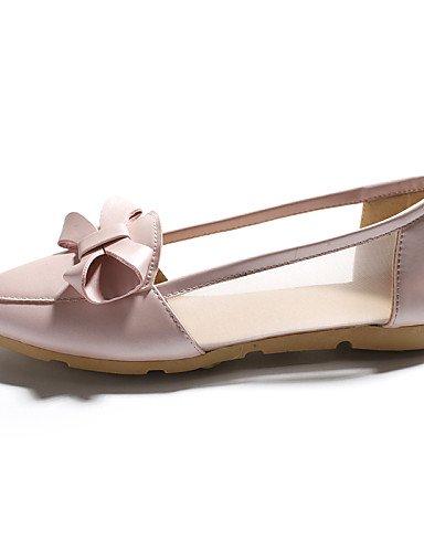 ZQ gyht Scarpe Donna-Ballerine-Casual-Comoda / A punta-Piatto-Finta pelle-Blu / Rosa / Bianco , pink-us8 / eu39 / uk6 / cn39 , pink-us8 / eu39 / uk6 / cn39 white-us6 / eu36 / uk4 / cn36
