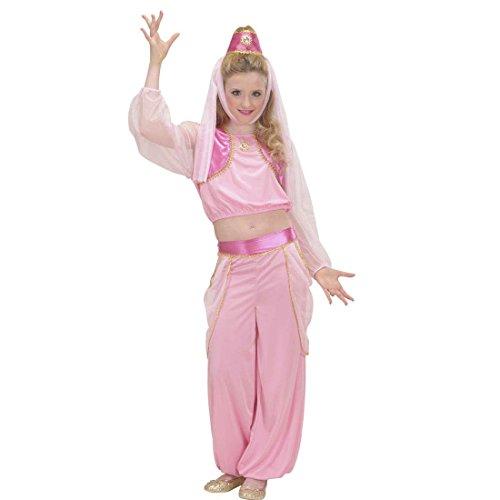 kostüm Bezaubernde Jeannie 128 cm 5-7 Jahre Orient Haremsdame Märchenkostüm Bauchtanz Kostüm Karnevalskostüme Kinder Mädchen 1001 Nacht Faschingskostüm Arabische Prinzessin Orientkostüm (Arabische Nacht Kostüm)