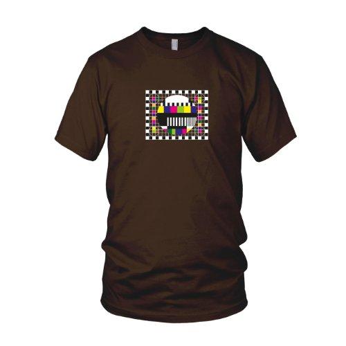 TBBT: Testscreen / Testbild - Herren T-Shirt Braun