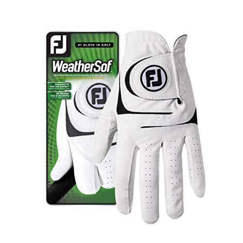 Neue, verbesserte 2017Footjoy Golfhandschuhe WeatherSof Herren Golf Handschuhe-wählen Sie Ihre Hand & Größe, weiß