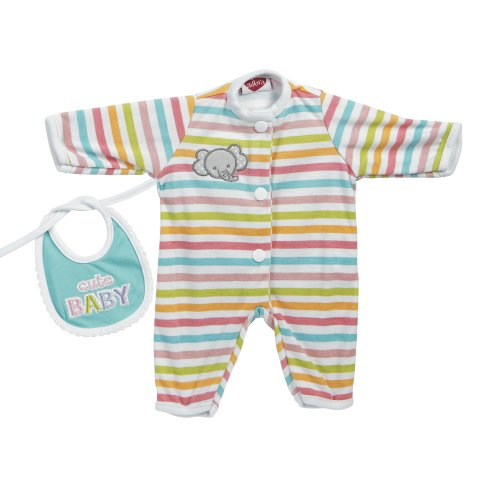 Adora Giggle Time Baby Doll Stripe Elephant Outfit (Doll Outfit Adora)