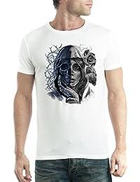 f3a4665d1eb1be avocadoWEAR Crâne Tête de Mort Mort Mystère Homme T-Shirt XS-5XL Nouveauté