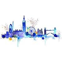 """Summer Thornton """"London Skyline"""" Canvas Print, Multi-Colour, 60 x 80 cm"""