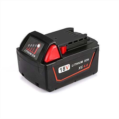 Preisvergleich Produktbild Energup 18V 4,0Ah Li-lon Ersatz Batterie Für Milwaukee M18 B5 M18B M18B2 M18B4 M18BX 48-11-1811 48-11-1815 48-11-1820 48-11-1822