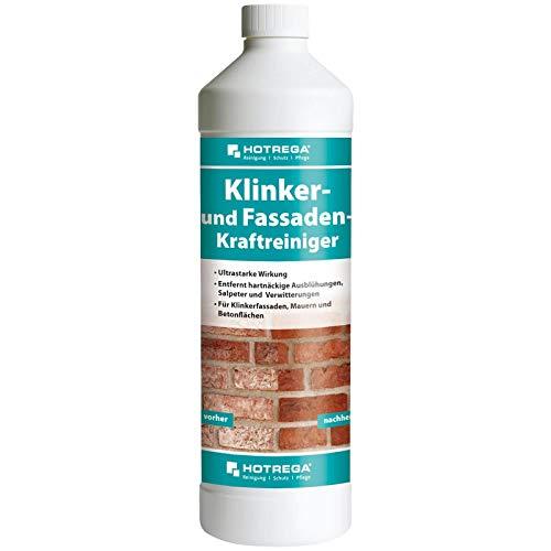 HOTREGA Klinker- und Fassaden-Kraftreiniger, Steinreiniger, Terrassenreiniger, Konzentrat 1 L