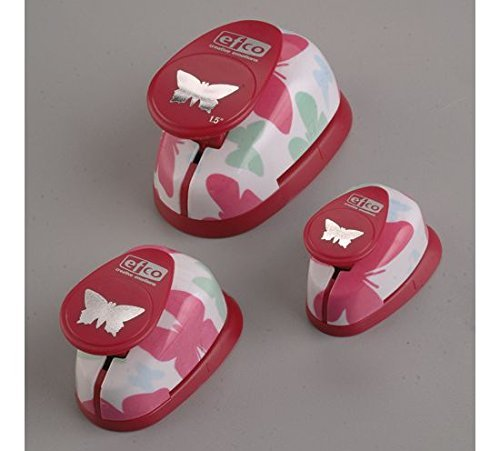 efco Design-Set Stanzform mit Schemtterlingsmotiv, Pink -