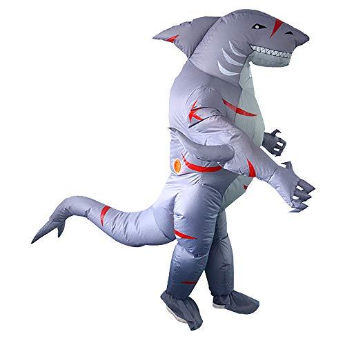 Menschliche Kostüm Reißverschluss - FunClothing Aufblasbares Kostüm für Erwachsene, perfekt für Aquarien, Partys, Strand Gr. XL, hellblau