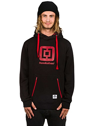 Horsefeathers Sherwin sweat capuche noir rouge