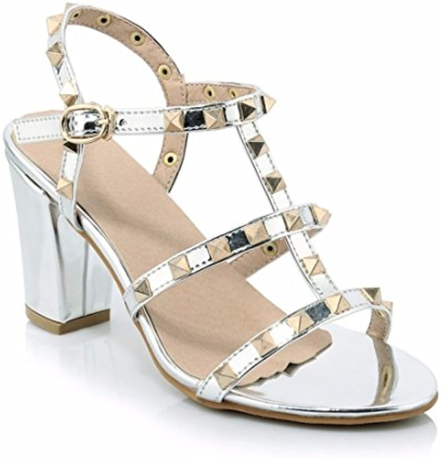 8703963e6694 Women s sandals thick nhta-29517 with high-heeled sandals sandals rivet  sandals strap Parent painted leather sandals B07DRBQ2LC Parent 5f9df1a ...