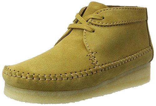 Clarks Originals Damen Weaver Boot. Chukka, Braun (Ochre Suede), 39 EU (Wallabee-schuhe Frauen)