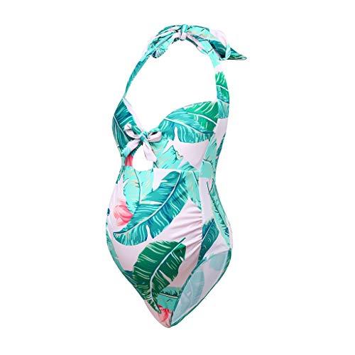 Bañador de Maternidad con Estampado Floral para Mujeres Embarazada Traje de baño Premamá Bikinis...