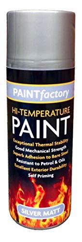 Preisvergleich Produktbild 400 ml Ultra High Heat Resistant Matt Silver Aerosol Spray Paint for Ove BBQ Grill & Motor Auspuff,  silber
