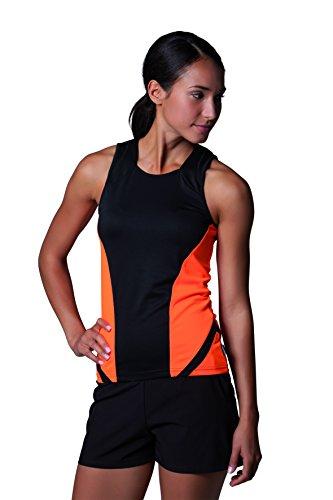 GameGear Cooltex Damen Laufen Fitness Weste Top Black/Fluorescent Pink