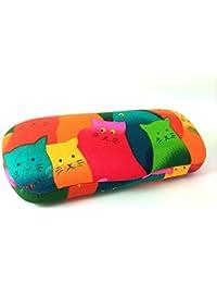 Gato Multicolor Childs espectáculo gafas caso duro. Cuerpo de metal con acolchado de tela