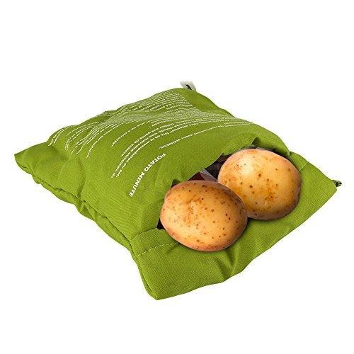Kartoffel Mikrowelle beutel Mikrowellenherd Kochtasche Kartoffel Tortillas Maiskolben Express Backen Werkzeug (1 Stü. Grün)