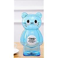 Preisvergleich für Whyyudan Spardose Geschenkbox Geld Banken Kunststoff Transparent Tier Cartoon Sparschwein Kreative Kinder Spardose (Blaue Katze)
