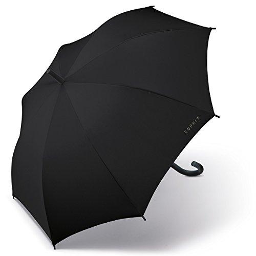 ESPRIT Regenschirm/Stockschirm Long AC Basic, schwarz, 50701