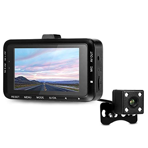 SDRFSWE DV168 1080P Dash Cam Motorrad 2 7-Zoll-130-Grad-Dual-Kamera Moto Driving Recorder Mit Dual-Kamera Vorne Und Hinten Kamera