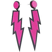 iLoveCos 80s Fancy Dress Accessories Neon Lightning Earrings
