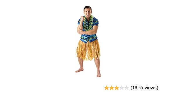 Natural Hawaiian Grass Skirt One Size