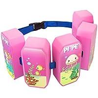 PI-PE–Cinturón flotador para niños–Flotador Ideal para aprender y toben–5Bloques según el Progreso Restos–Bonito diseño para niños y niñas, infantil, color rosa, tamaño talla única