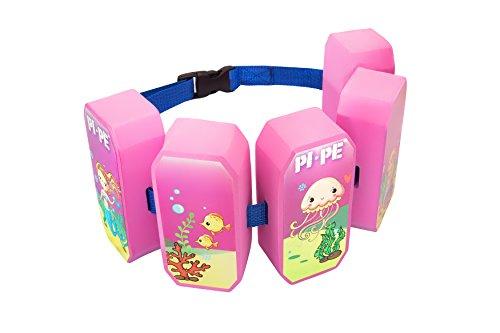 PI-PE Schwimmgürtel für Kinder - Schwimmhilfe ideal zum lernen und toben - 5 Blöcke je nach Fortschritt entfernbar - schönes Design für Jungen und Mädchen