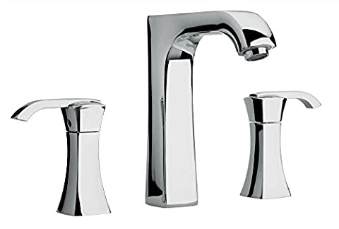 Jewel Faucets Two Lever Handle Roman Tub Faucet w Arched