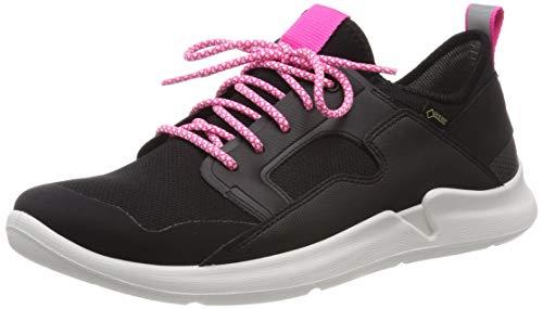 superfit Mädchen Thunder Gore-Tex Sneaker, (Schwarz/Rosa 00), 37 EU (Kinder Sneaker Rosa)