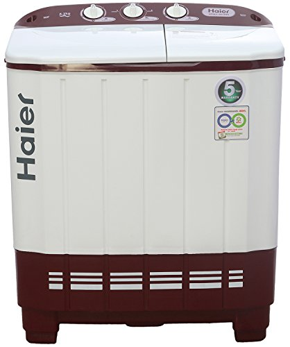 Haier 6.2 kg Semi-Automatic Top Loading Washing Machine (XPB62-0613RU, Ruby...